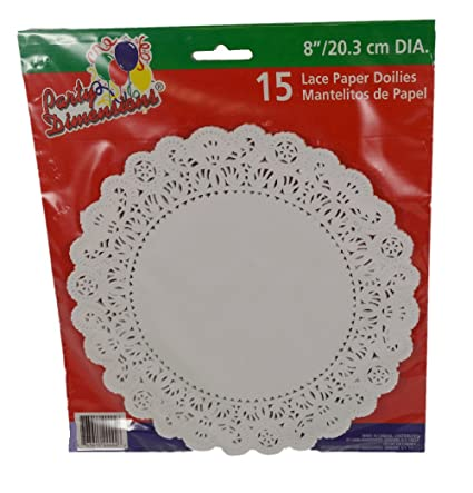 Amazon Com Set Of 15 White Lace Paper 8 Round Craft Cake Doilies