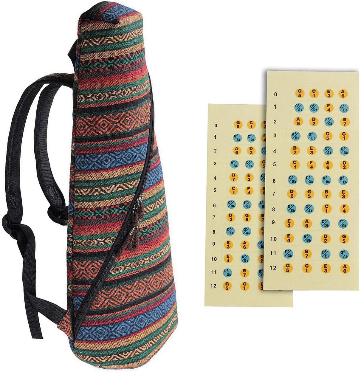 Bobotron 1 funda para ukelele tenor de 26 pulgadas, 10 mm acolchado de esponja (Tenor) y 2 calcomanías para ukelelele para el diapasón, para principiantes: Amazon.es: Instrumentos musicales