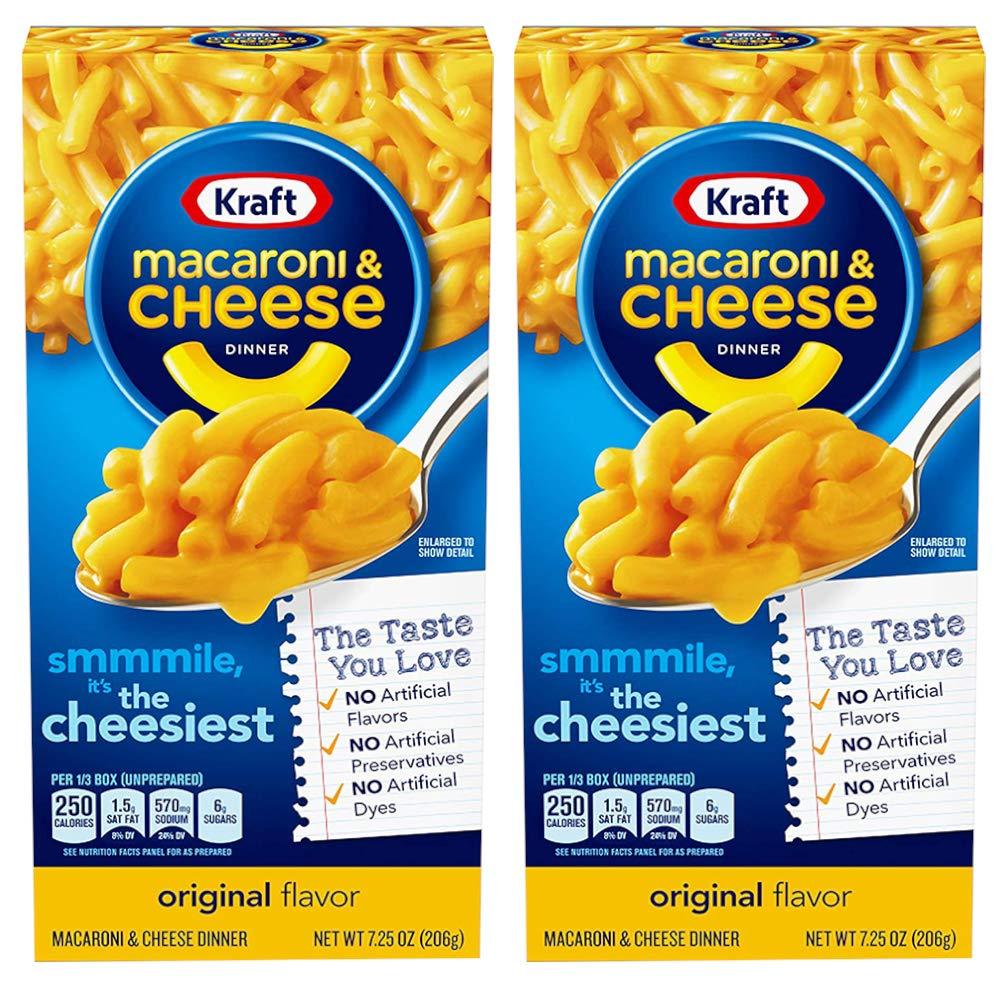 Kraft Macaroni & Cheese Dinner, Original Flavor, 2 x 206 g