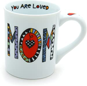 "Our Name is Mud ""Loved Mom"" Cuppa Doodle Porcelain Mug, 16 oz."