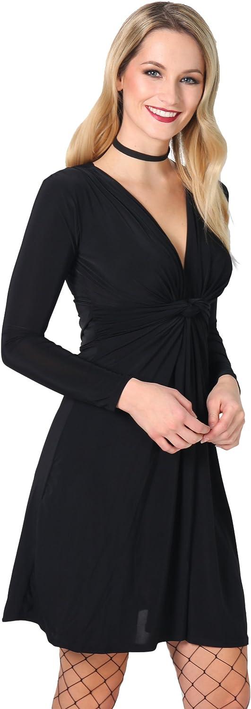 TALLA 40. KRISP Chaqueta Mujer Fiesta Punto Encaje Blazer Elegante Cardigan Negro (9878) 40