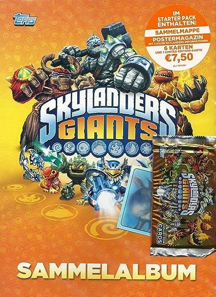 Topps Skylanders Gigantes de Cartas Starter Pack: Skylanders ...