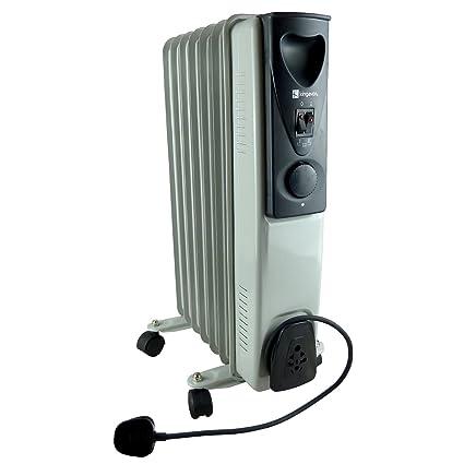 7 Aleta Aceite Lleno Radiador - 1.5kw Portátil Calentador eléctrico
