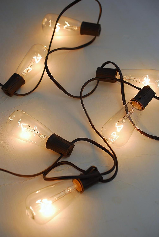Amazon.com : Richland Gerson Edison ST40 Bulb String Lights ...