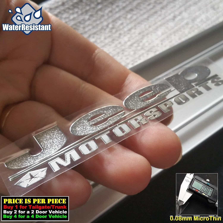 150mm x 25mm//1 Piece Motorsports Chrome Silver Car Door Sill Scuff Plate Decal Badge Emblem Step Board Sticker Side Trunk Auto Metal Nickel Micro Ultra Thin Graphic 4169CHSR-L TOTUMY