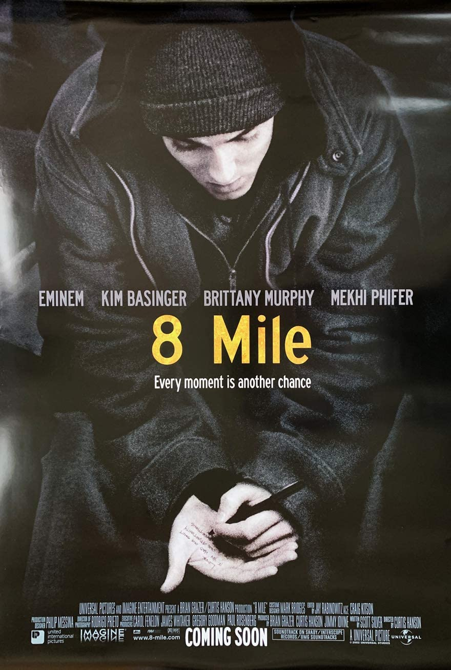 8 MILE MOVIE POSTER 2 Sided ORIGINAL 27x40 EMINEM BRITTANY MURPHY