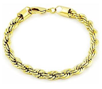 Amazon.com: Sopo 18 K chapado en oro amarillo para hombre ...