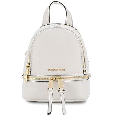 6b4cdce4551f6 MICHAEL by Michael Kors Rhea Zip Extra Small Optic White Backpack one size Optic  White