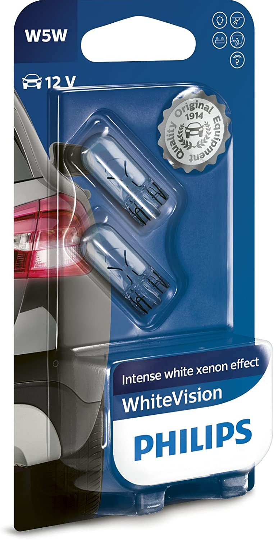 Philips WhiteVision Xenon Effect W5W Glühlampen 2 Stück
