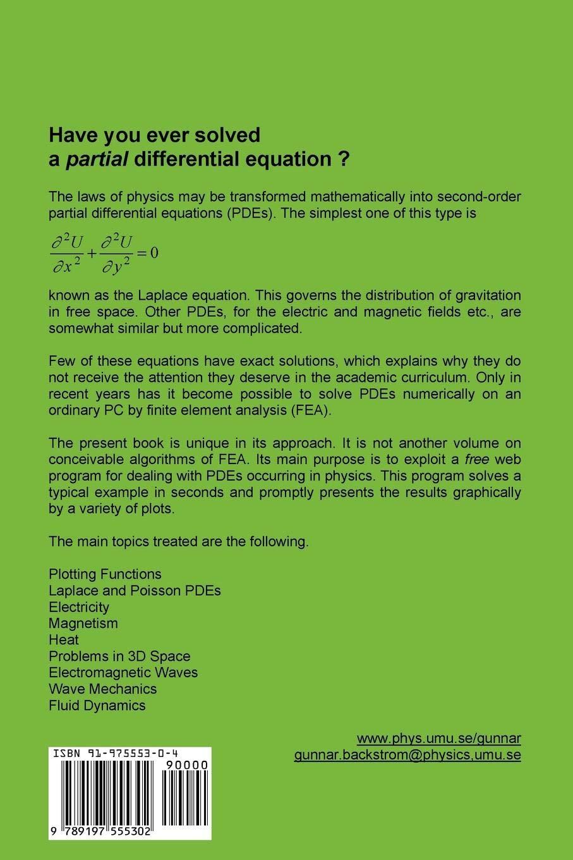 Simple Fields of Physics by Finite Element Analysis: Amazon.es: Backstrom, B. Gunnar: Libros en idiomas extranjeros