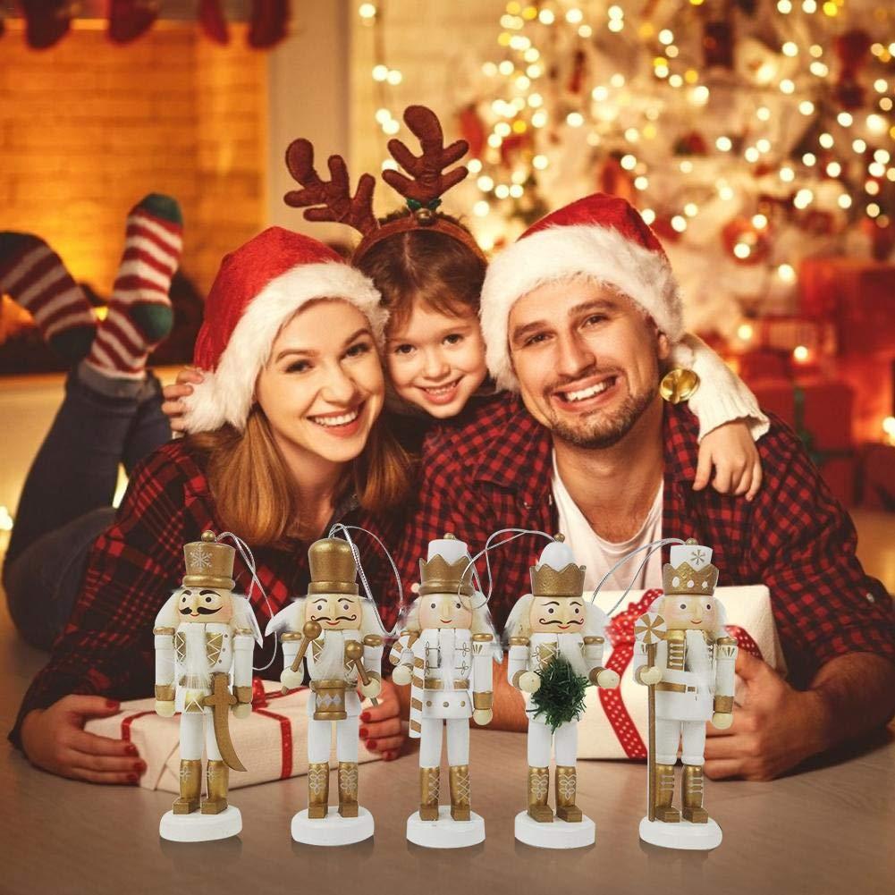 iBaste Nussknacker Deko Figur,12,5cm Weihnachts Nussknacker,Dekorative Nussknacker Soldat Marionette verziert Weihnachts Dekoration Weihnachts Geschenk