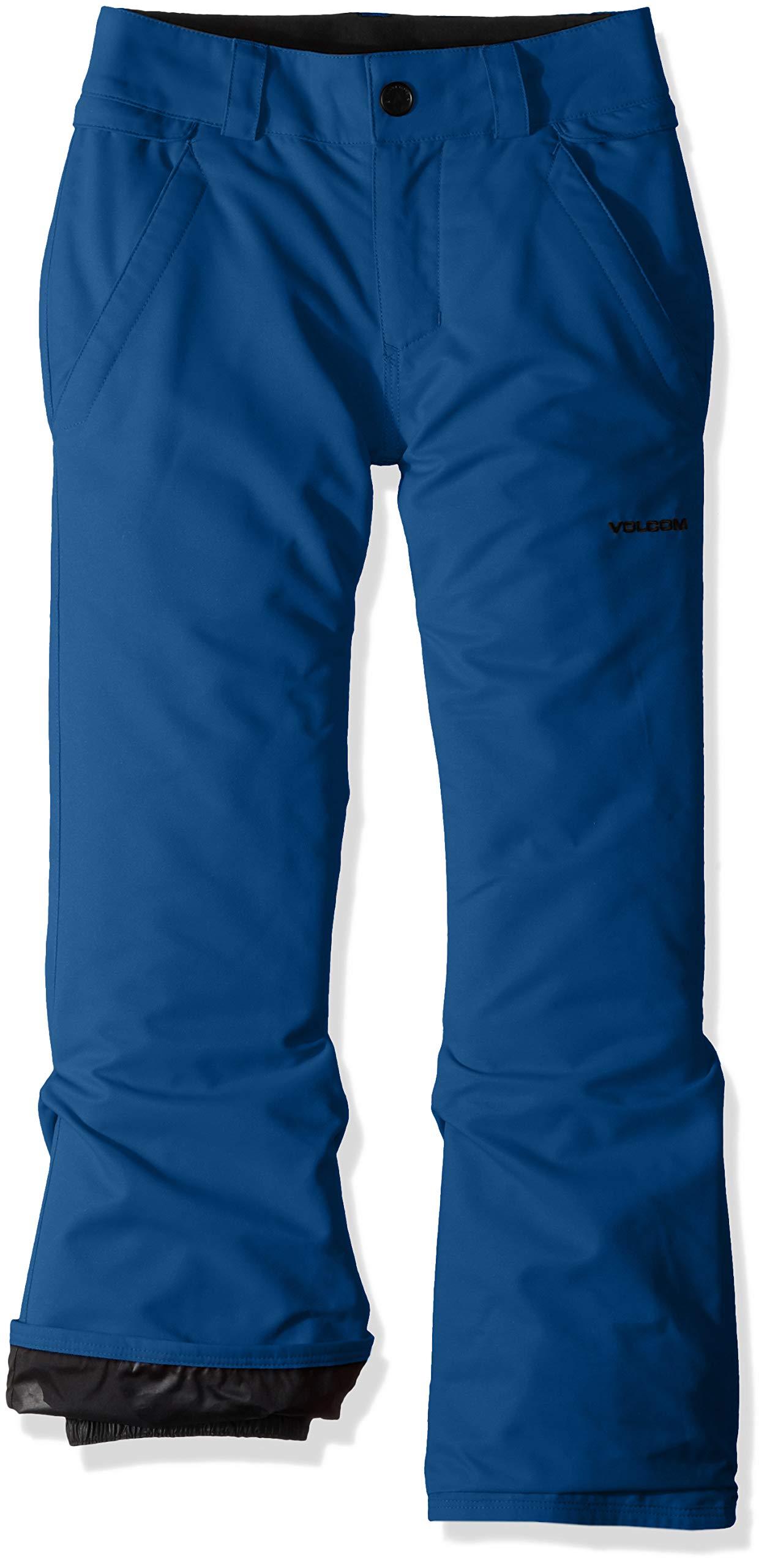 Volcom Boys' Big Freakin 2 Layer Shell Chino Snow Pant, Blue Extra Small