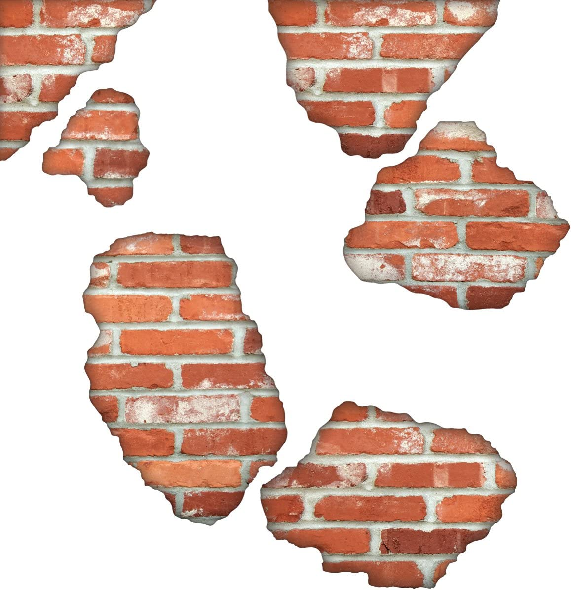Faux Brick Wall Decals Brick Breakaway Wall Decals Repositionable Peel And Stick Matte Fabric Decals Wall Decor Stickers Amazon Com