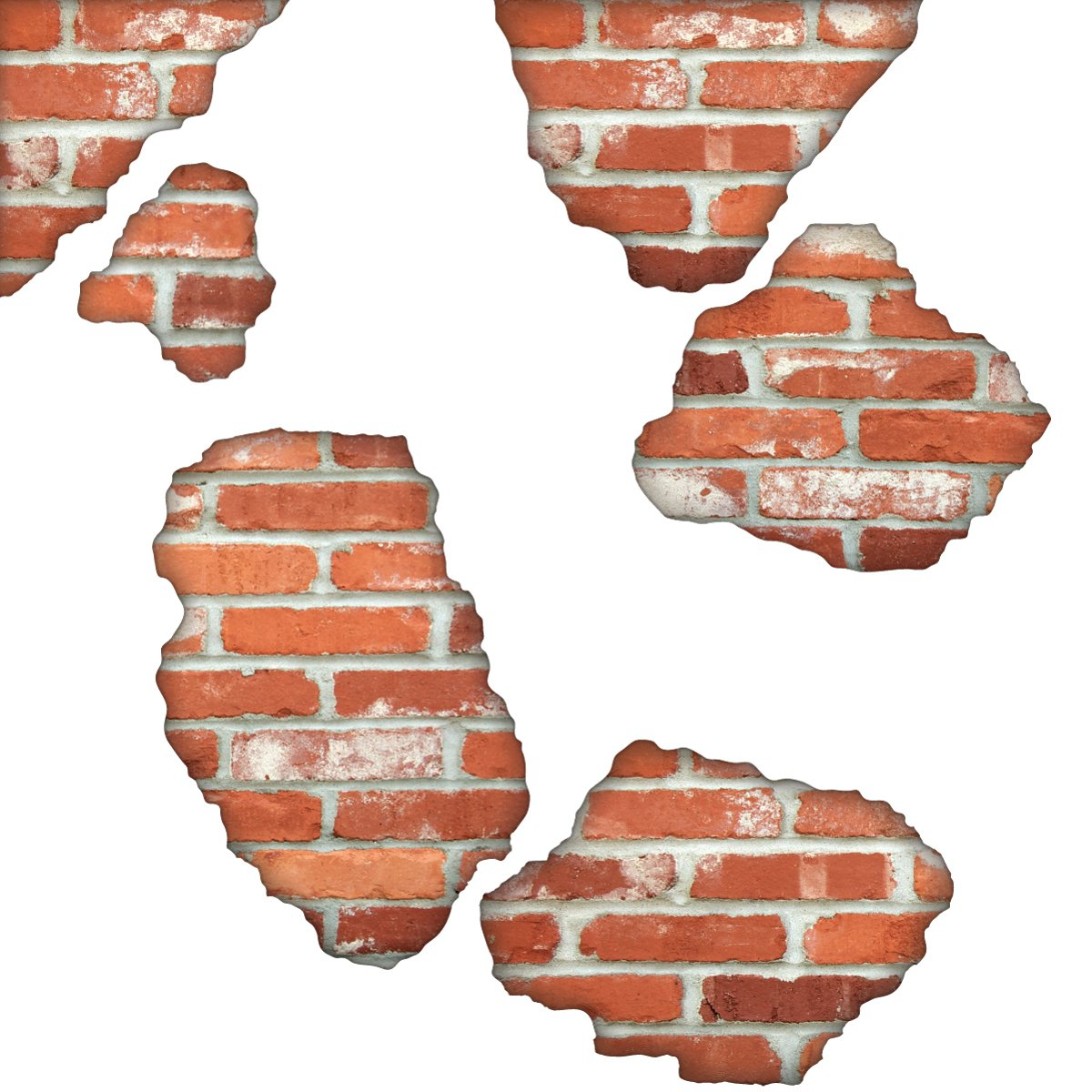 Amazon.com: Faux Brick Breakaway Wall Decals Repositionable Peel and ...