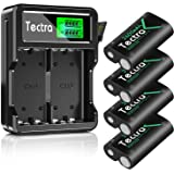 Tectra Compatible with Xbox One Battery, 4 Pack x 2600mAh Rechargeable Battery and LCD Dual Charger for Xbox Series X S/Xbox