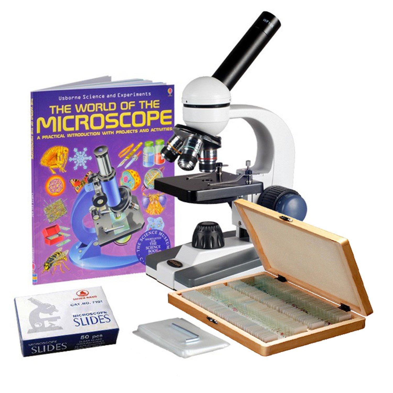【お年玉セール特価】 AmScope 40X-1000Xコードレス学生生物顕微鏡+準備 B00X4LMJYC&ブランクスライド、ブック B00X4LMJYC, Aquila:fccfcc0b --- cygne.mdxdemo.com