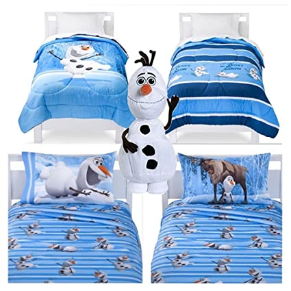 Amazoncom Disney Frozen Olaf 5 Piece Bed In A Bag Reversible