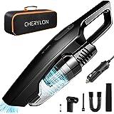 CHERYLON Car Vacuum, Portable Car Vacuum Cleaner High Power 150W/8000Pa,16.4-Foot Cable,12-Volt Wet/Dry Handheld Vacuum Clean
