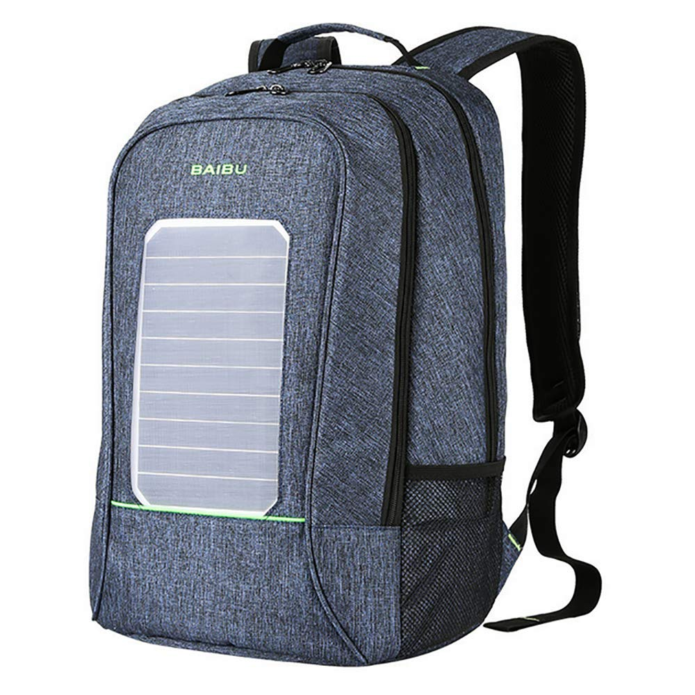 QCC&大容量ソーラーパワーハイキングデイパック 防水 USBアウトドア ハイキング 旅行 サイクリング キャンプ用  B B07GRQLLL4