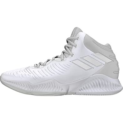 online retailer ebc7f 03a86 adidas Mad Bounce 2018, Chaussures de Basketball Homme, Blanc Crywht  Ftwwht, 42 EU