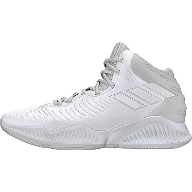 online retailer 15345 e63dc adidas Mad Bounce 2018, Chaussures de Basketball Homme, Blanc Crywht  Ftwwht, 42 EU
