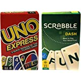 Generic Uno & Scrabble Cards Set | Original Set | Family Fun Playing Cards | Birthday Return Gifts | Pack of 2