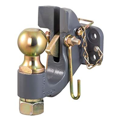 CURT 48410 SecureLatch 2-5/16-Inch Ball and Pintle Hitch Hook Combination 20,000 Pounds, Mount Required: Automotive