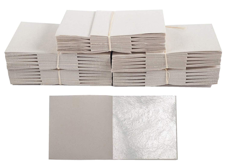 500 Blatt Echtes Blattsilber 6cm x 6cm Echt Silber 925 Blattgold-Blattsilber