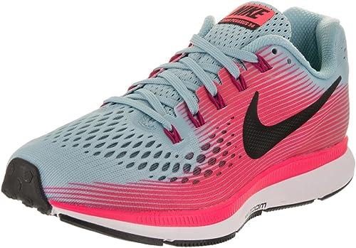 Nike Air Zoom Pegasus 34 - Zapatillas de running para mujer (talla 10),  color azul/blanco/rosa/rosa