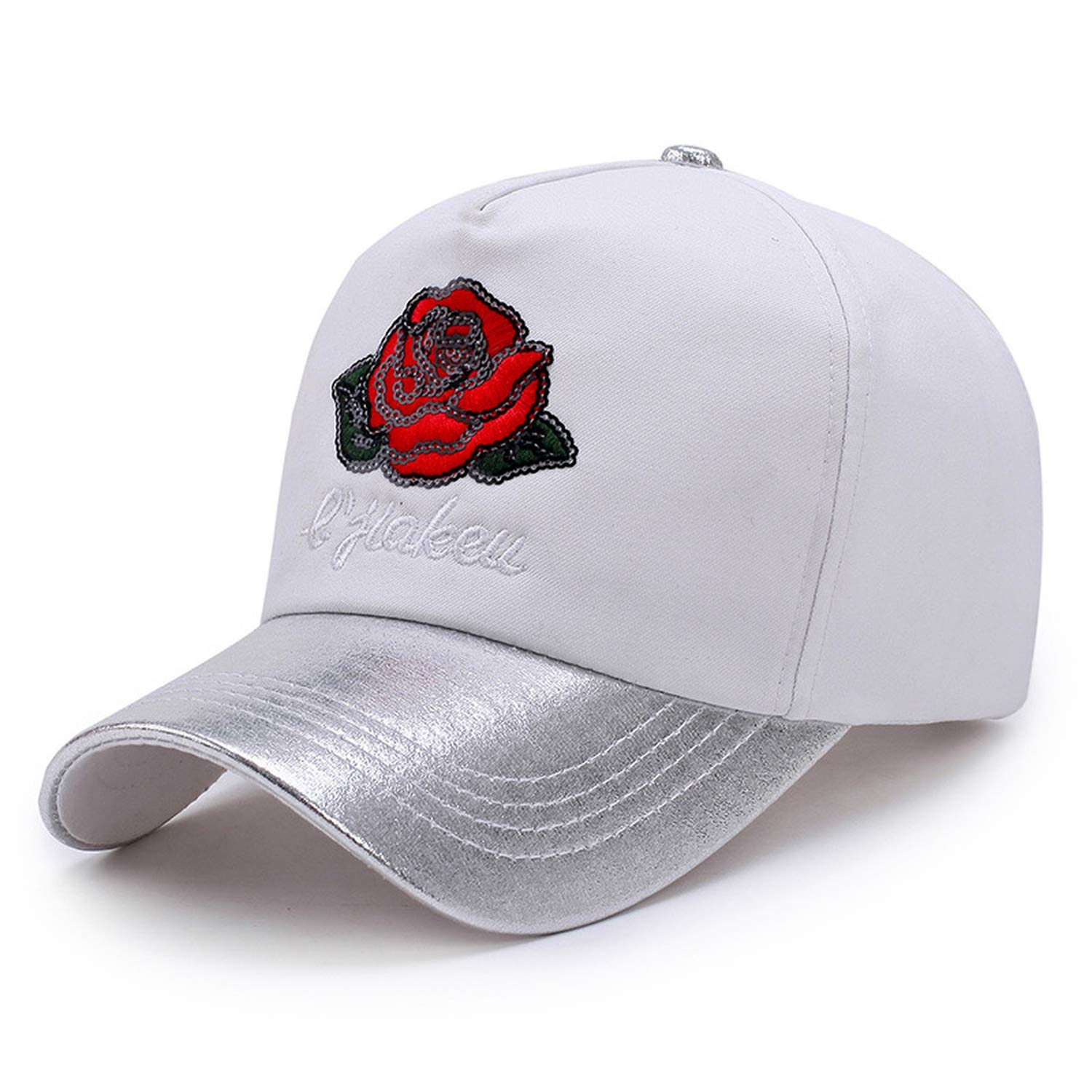 Amazon.com: LONIY Women Lady Embroidery Sequin Rose Baseball Cap Hat Peaked Cap 5 Panel Snapback Gorras Outdoor Sunhat Leisure: Clothing