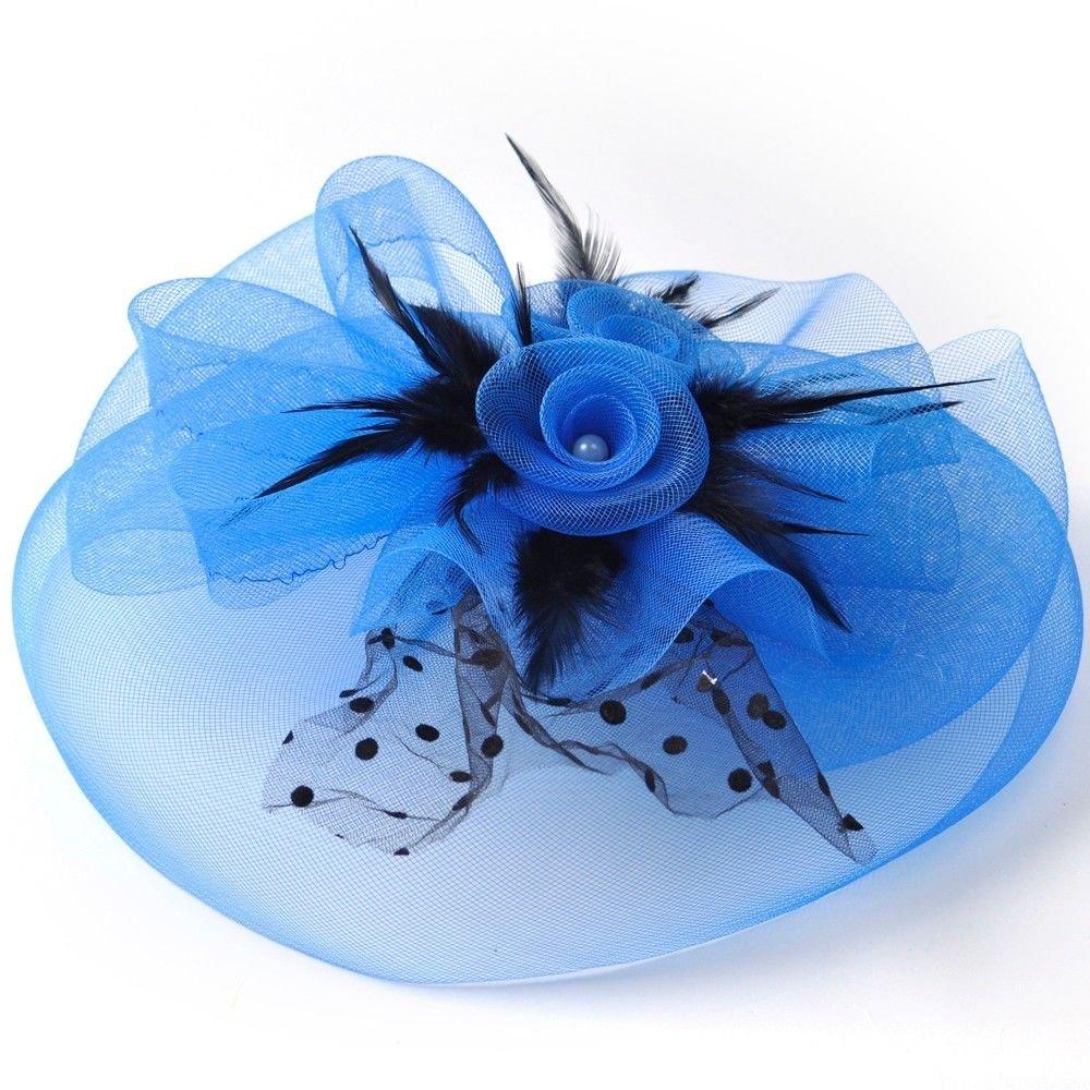 Queenestar Fascinator Hats for Women Hair Clip Cocktail Headwear Flower Bridal Headpieces