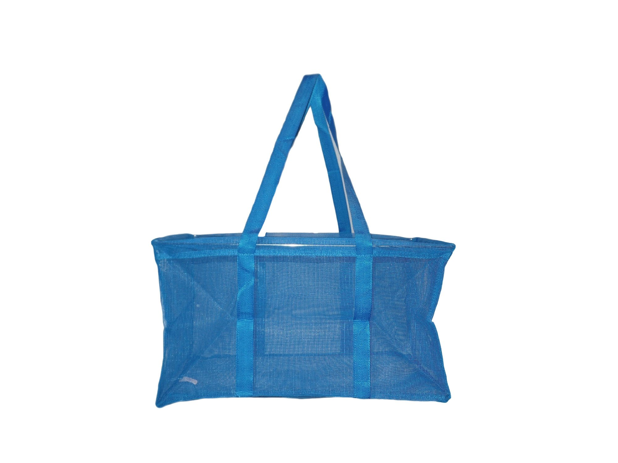 Mesh Ultimate Tote - Carry All Organizer Bag - A Summer Beach Must Have (Royal Blue)