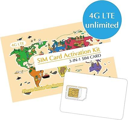Amazon.com: Tarjeta SIM japonesa de 3 a 8 días de datos ...