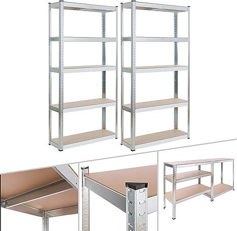 Arebos - Estantería para cargas pesadas | estanterias de pared | estanterias metalicas | estanteria metalica