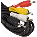 A//V TV Video Cable Cord Lead for Panasonic Camcorder K2KYYYY00054 K2KC4CB00024 Taelectric