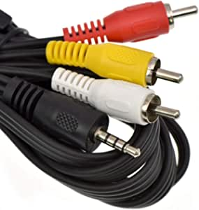 Taelectric AV A//V Audio Video TV-Out Cable Cord Lead for Canon Camcorder Vixia FS406 HF-M52