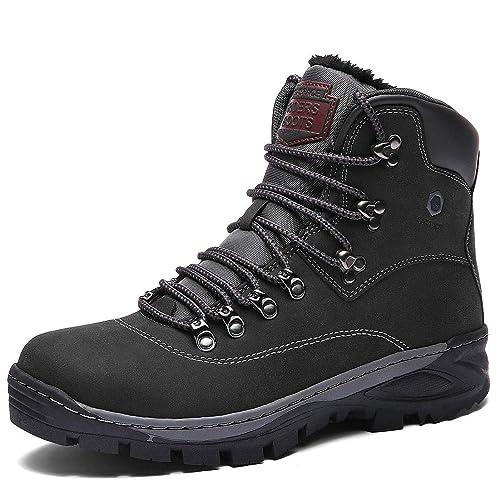 Hombre Botines Zapatos Botas Nieve Invierno Botas Trekking Zapatos Fur Forro Aire Libre Boots: Amazon.es: Zapatos y complementos