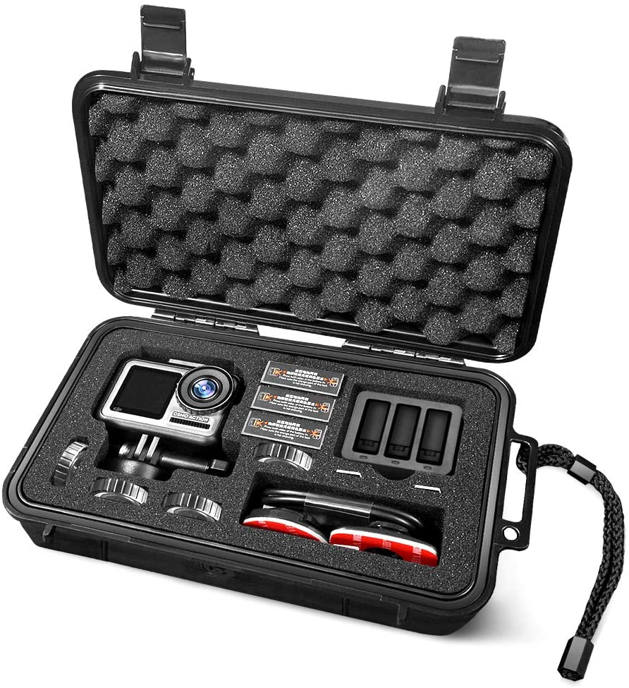 Lekufee Small Waterproof Hard Case for DJI Osmo Action Camera and More Accessories