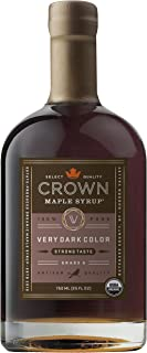 product image for Crown Maple Very Dark Color Strong Taste organic maple syrup 750ML (25 FL OZ)