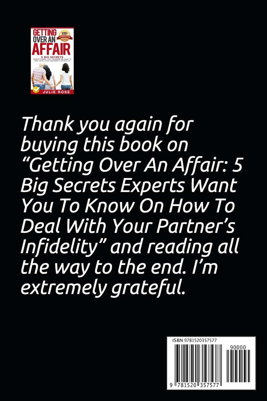 How do you know when an affair is over