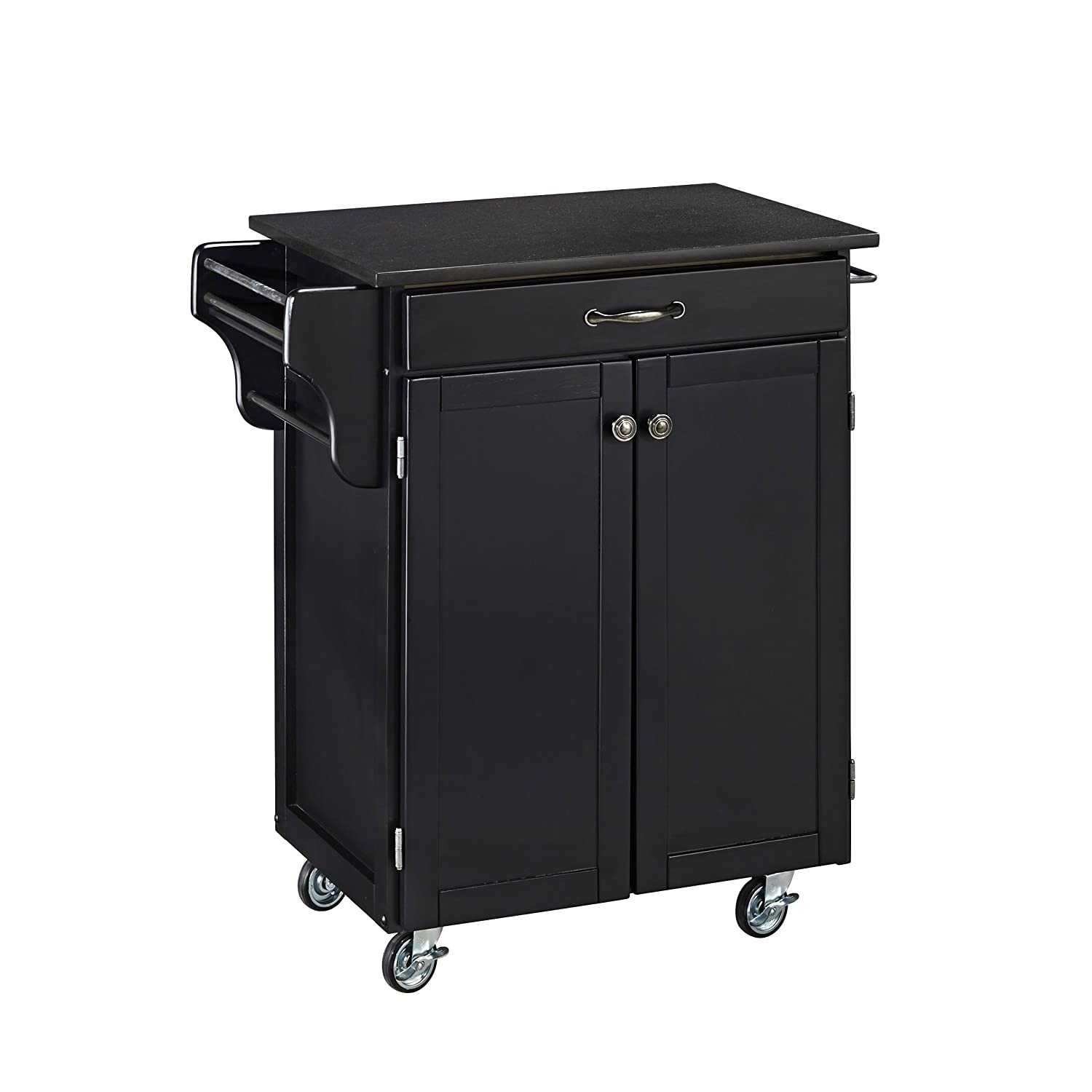 Home Styles 9001-0044 Create-a-Cart 9001 Series Cuisine Cart with Black Granite Top, Black, 32-1/2-Inch