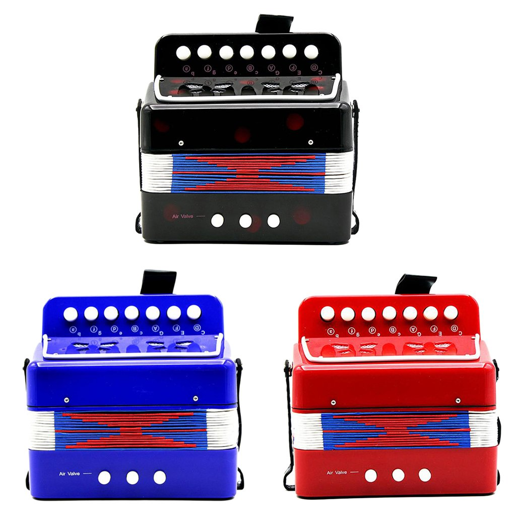 Almencla Kids Percussion Accordion Musical Toy Children Musical Instrument Blue by Almencla (Image #7)
