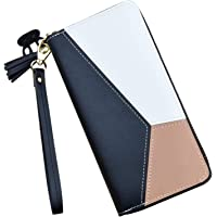 Ladies Purse Wallet PU Leather Long Women Wallet Card Holder Wallet Clutch Wallet with Zipper Pocket Coin Purse (Women…
