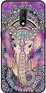 حافظة لهاتف وان بلس 7 عليه صورة فيل زهري
