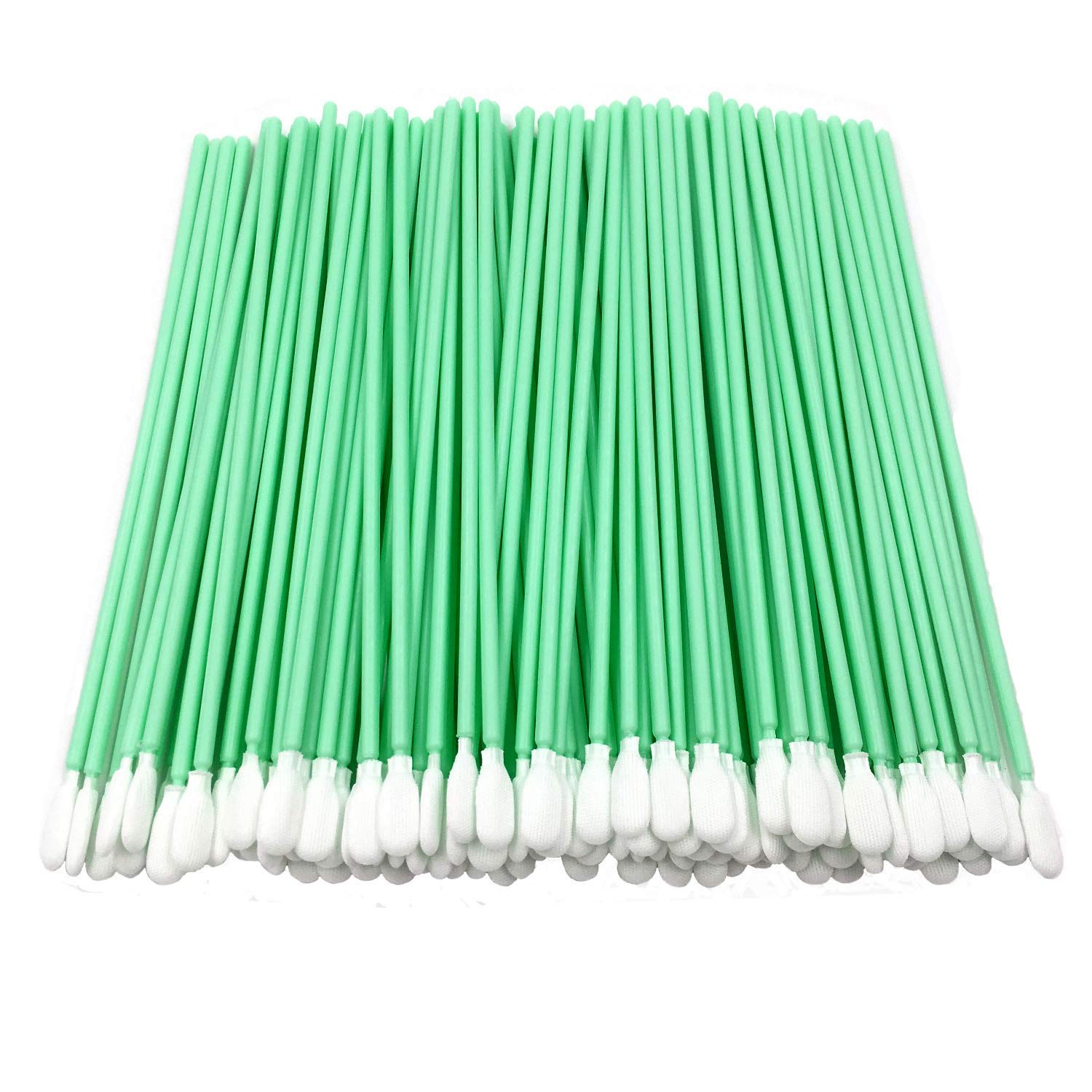100pcs 6.45'' Cleanroom Polyester Swab with Flexible Head Knitted Polyester Cleaning for Gun Optical Lens/PCB/BGA/Electronics/Semiconductor Instrument and Medical Industry CK-PS761 (100) by cleansky