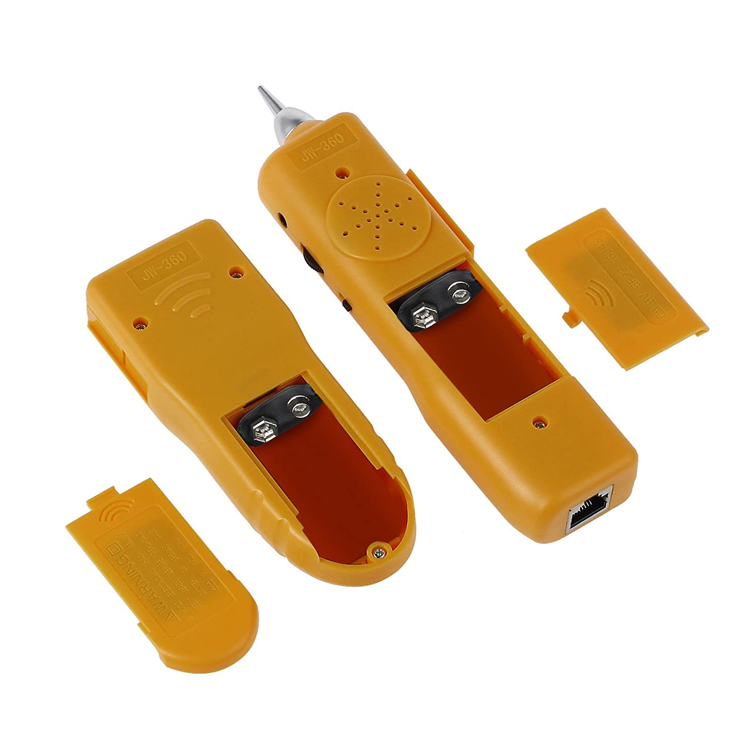 AUTOUTLET Professional Wire Tracking Set Cable Transmitter Receiver//Tracker RJ45 RJ11 Cable Tester Wire Line LAN Cable RJ Tracker Toner Tracer