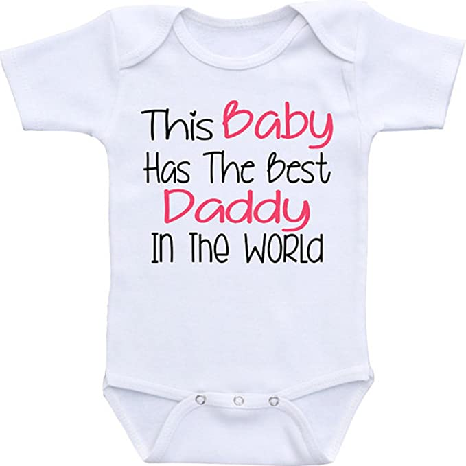 Cute Hearts Dad Newborn Baby Shirt Bodysuit Outfit Onesie /& Bib I Love My Daddy