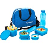 Signoraware Plastic Sling Set with Bag, 6-Pieces, Blue