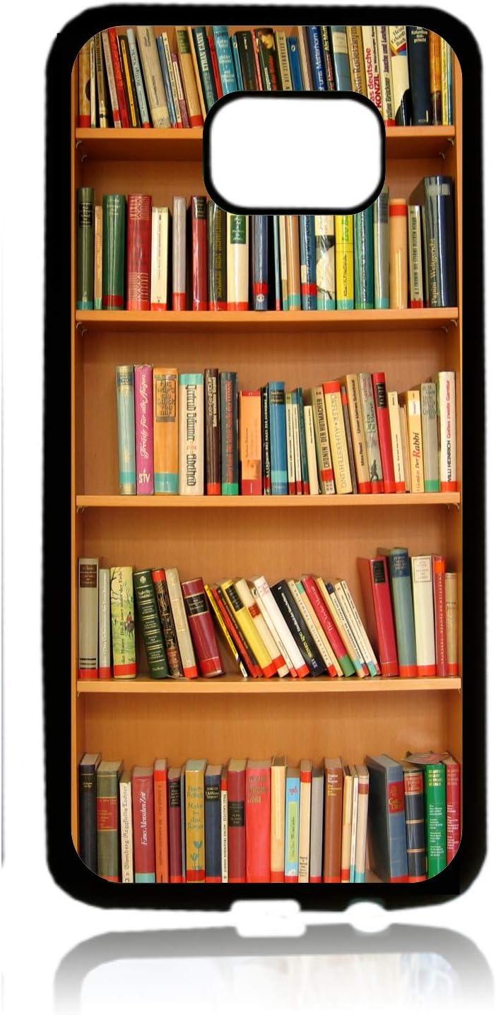 Bookcase Library Print Design Black Rubber Thin Case Cover for The Samsung Galaxy s8 Plus / s8+/ s8p - Samsung Galaxy s8 Plus Accessories - s8 + case