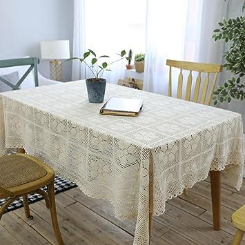 Retro nostálgico mano tejidas mantel crochet hueco de algodón Inicio multipropósito tela cubierta toalla para nevera TV ordenador escritorio y sofá ...
